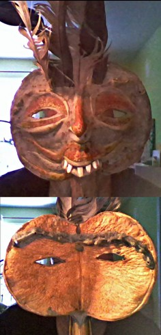 Strange mask of natural materials