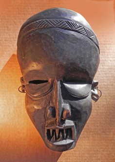 Central African mask with nasty smile