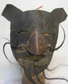 Strange leather mask from Mexico