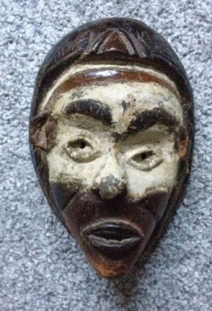 Primitive mask from the Congo