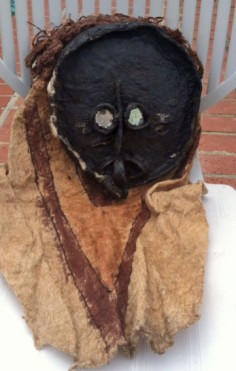 Ticuna Indian mask with full costume