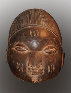 Simple Gelede mask from Nigeria