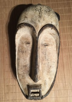 Unusual Fang mask from Ivory Coast